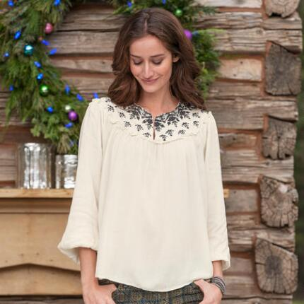 FROST EMBROIDERED TUNIC