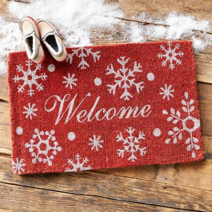 FESTIVE WELCOME MAT