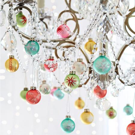 FIRST NOEL BLOWN GLASS ORNAMENTS, SET OF 12