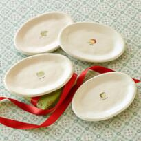 LE FROMAGE PLATES, SET OF 4