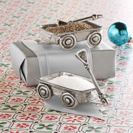 SALT & PEPPER WAGON CELLARS, SET OF 2