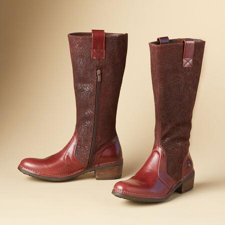 BAROQUE TOOLED BOOTS