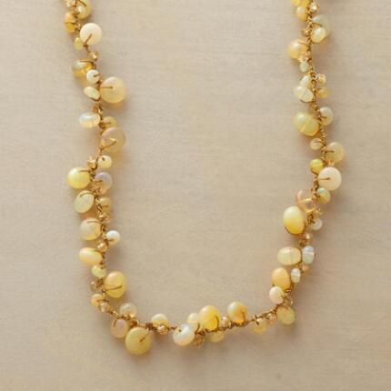Purely radiant, this honey opal and citrine necklace is like a tamed ray of sunlight.