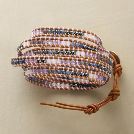 LAVENDER BLUES 5 WRAP BRACELET