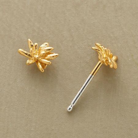 Like the tiniest floral fireworks, these vermeil chrysanthemum stud earrings make a miniature bang.