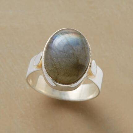 Add a subtle flash to any ensemble with this handcrafted shimmer ring.