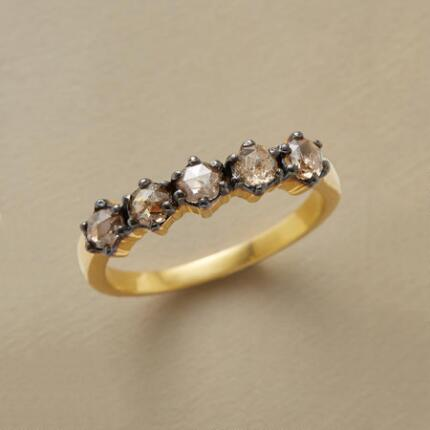 This blackbead brown diamond ring will dazzle you with its timeless charm.