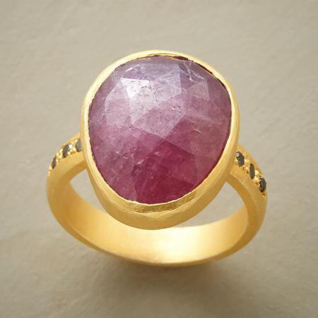 Add a dash of regal charm to your ensemble with this pink sapphire royale ring.