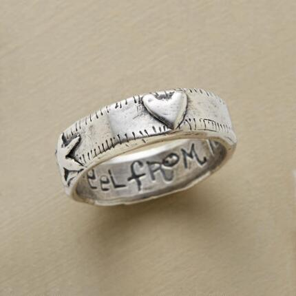This Jes MaHarry soul + heart band ring makes a beautiful touchstone.