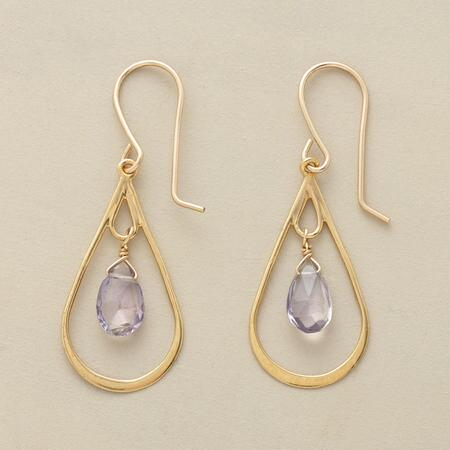 LAVENDER RAIN EARRINGS