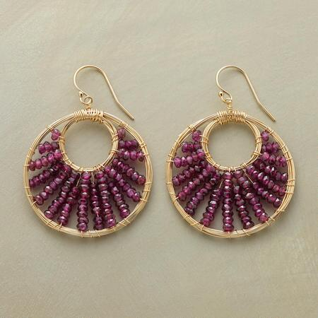 RADIATING GARNET EARRINGS