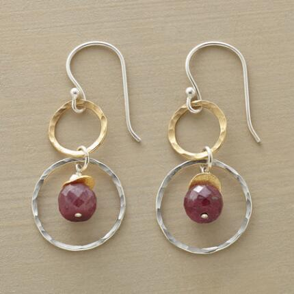 ORNAMENTAL PLUM EARRINGS