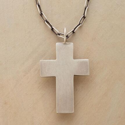 The simple yet bold design of this Jane Diaz cross pendant necklace sets it apart.