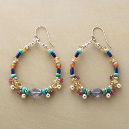 GAMELAN HOOP EARRINGS