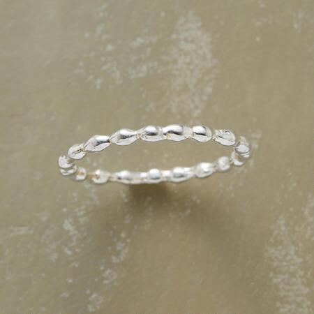 STERLING BUBBLING OVER RING