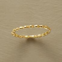 GOLDPLATED BUBBLING OVER RING