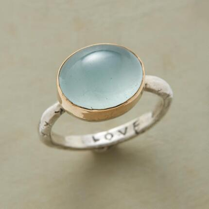 An artisan sky dome ring with a style and color you'll find heavenly.