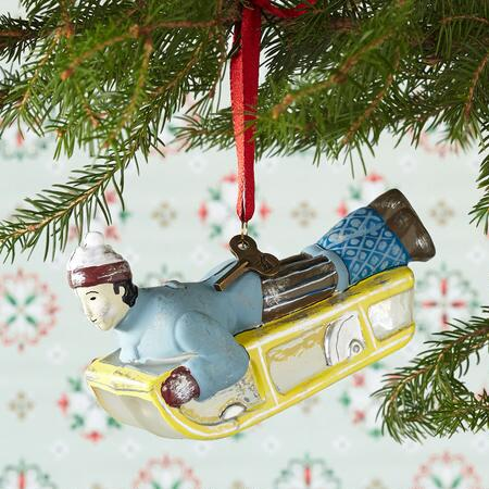 SLED RIDER ORNAMENT
