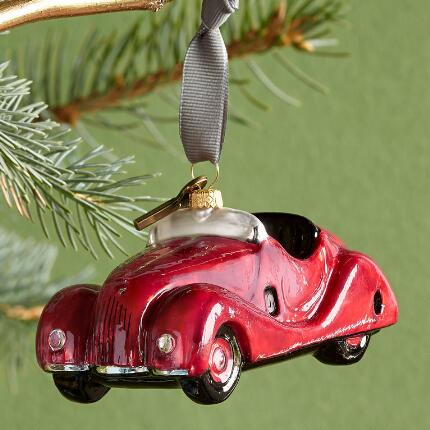 RED CONVERTIBLE ORNAMENT