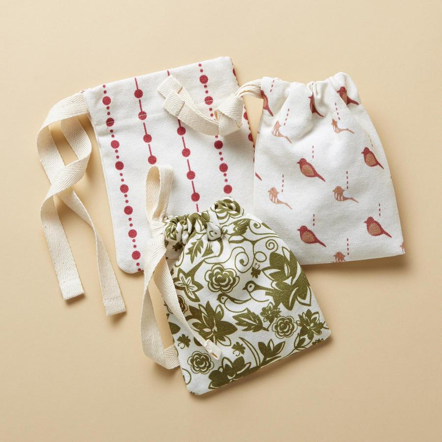 GIFT POUCHES, SET OF 3