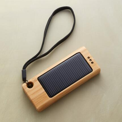 A USB solar charger that will keep your devices topped up on sun-power.