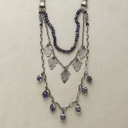 IOLITE BUD NECKLACE