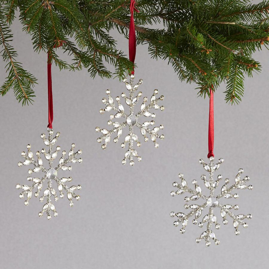 SNOWFLAKE ORNAMENTS S/3