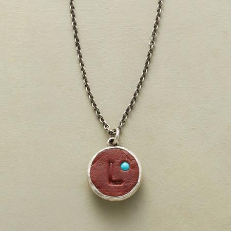 LEATHER INITIAL NECKLACE