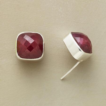 MERLOT RUBY EARRINGS