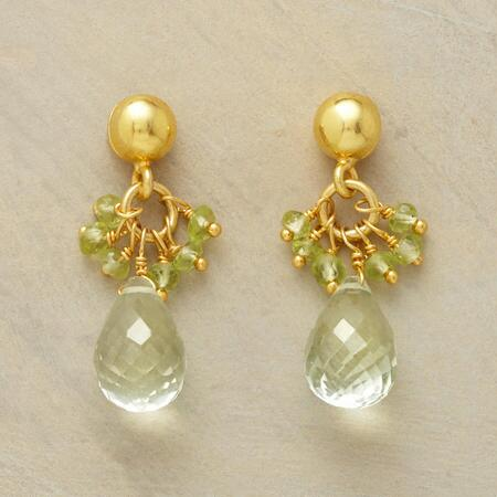 GREEN ON GREEN EARRINGS
