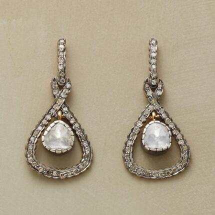 DIAMOND HALF-SHELL EARRINGS