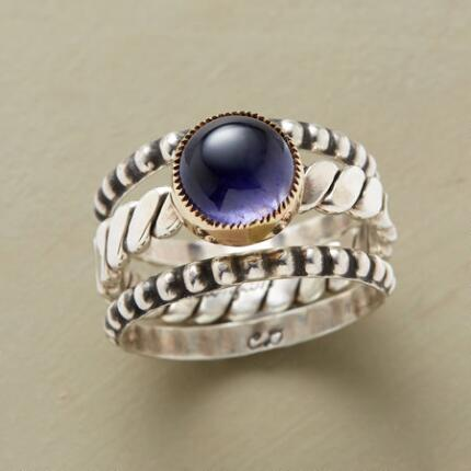 GUARDED IOLITE RING SET