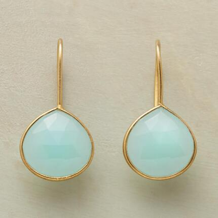 Bright and lovely, these chalcedony and vermeil drop earrings couldn't be sweeter.