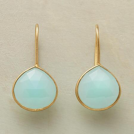 BOTH SIDES CHALCEDONY EARRINGS