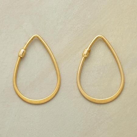 GOLDEN TEARDROP HOOPS