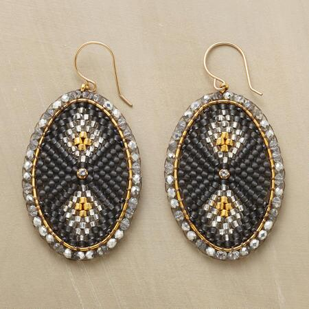 BEADED DECO EARRINGS