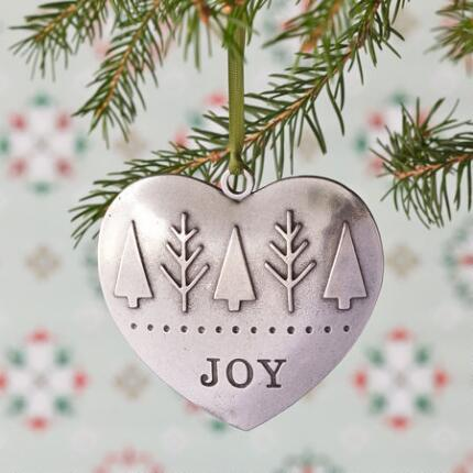 JOYFUL HEART PEWTER ORNAMENT