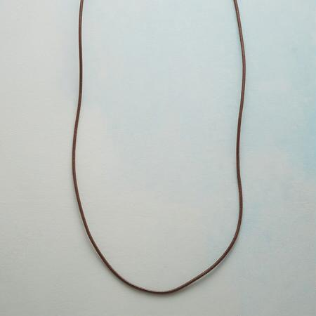 This leather cord necklace is just waiting to hold the charms you choose for it.