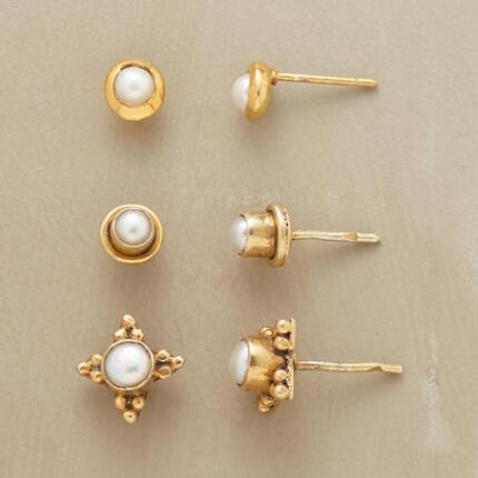 PEARLS 3 WAYS EARRING TRIO