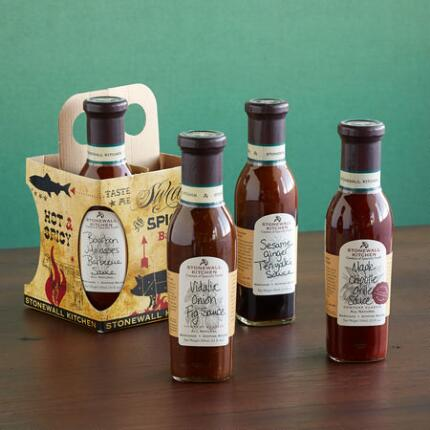 GIFTWORTHY GRILL SAUCE CADDY, SET OF 4