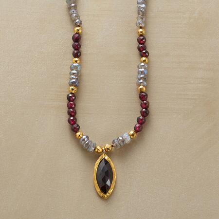 GARNET CHARMER NECKLACE