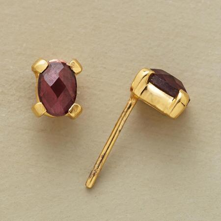HARLEQUIN GARNET EARRINGS
