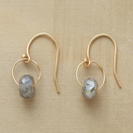 LOOPED LABRADORITE EARRINGS