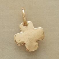 14KT GOLD CROSS CHARM