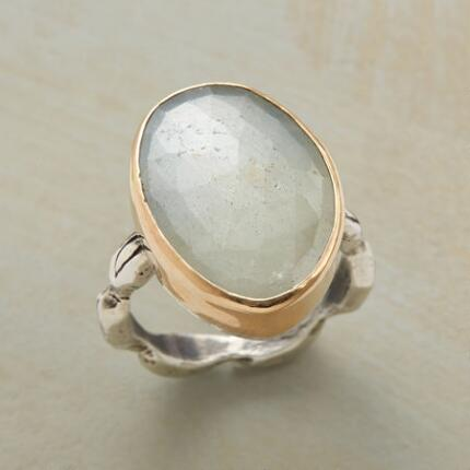 A Jes MaHarry cream sapphire ring with a stone as individual as its wearer.