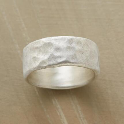 The sleek lines of this hand-hammered artisan ring make it an everyday favorite.