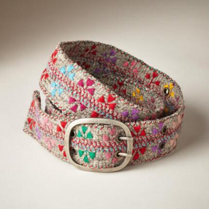 FELTED FLOWERS BELT