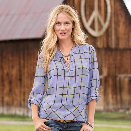 MONDRIAN PLAID TOP