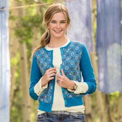 ASTER EMBROIDERED CARDIGAN