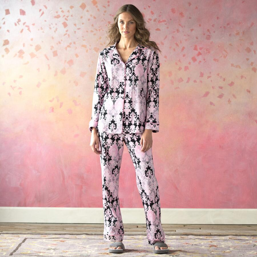 DRAMATIC DAMASK PAJAMAS
